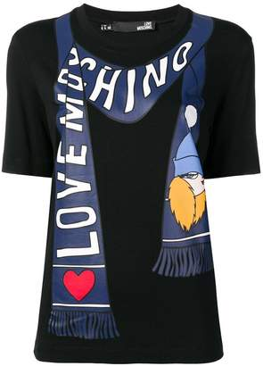 Love Moschino printed scarf T-shirt