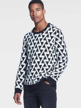DKNY Stitched Triangle Sweater