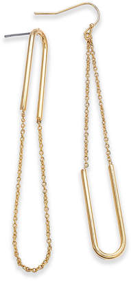 INC International Concepts I.n.c. Gold-Tone Chain Loop Drop Earrings