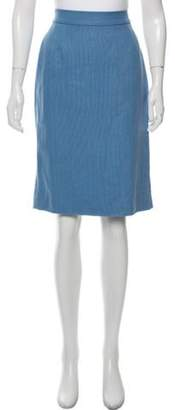 Valentino Bow-Accented Pencil Skirt blue Bow-Accented Pencil Skirt