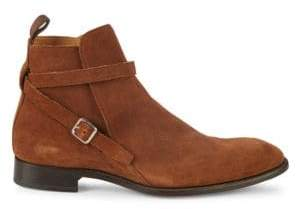 Paul Stuart Buckle Suede Ankle Boots