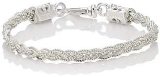 Emanuele Bicocchi Men's Braided Foxtail Chain Bracelet - Silver