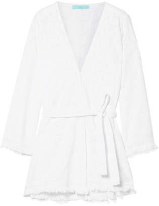 Melissa Odabash Pippa Frayed Broderie Anglaise Cotton Kimono - White