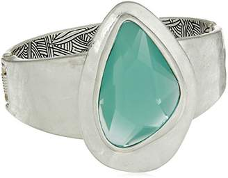 The Sak Women's Large Stone Hinged Bangle Bracelet