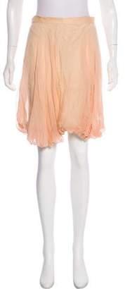 Erin Fetherston Silk Crepe Skirt
