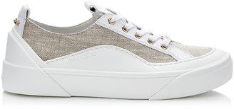 Jimmy Choo CHOO V.B.C LACE UP/F Natural Linen Lace Up Trainers