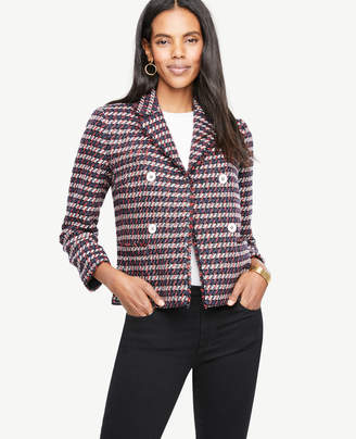 Ann Taylor Double Breasted Tweed Jacket