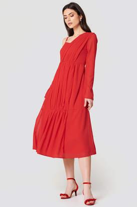 Na Kd Boho Wrap Top Asymmetric Dress