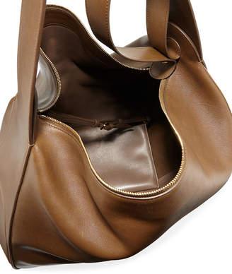 The Row New Leather Hobo Bag