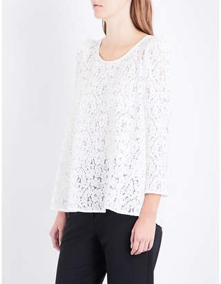 Claudie Pierlot Floral-embroidered lace top