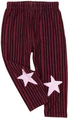 Noë & Zoë Berlin Star Cotton Leggings - Purple, Size 12-18m