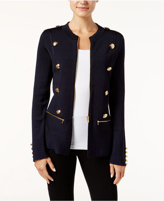 INC International Concepts Military Sweater Jacket, Only at Macy's $119.50 thestylecure.com
