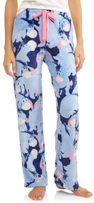 EEYORE Eeyore Women's and Women's Plus Superminky Fleece Pajama Pant