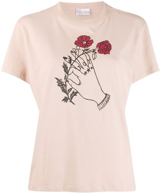 RED Valentino x Poppy's Papercut's graphic print T-shirt