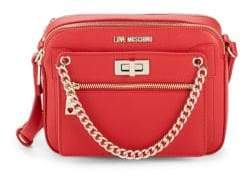 Love Moschino Logo Faux Leather Crossbody Bag