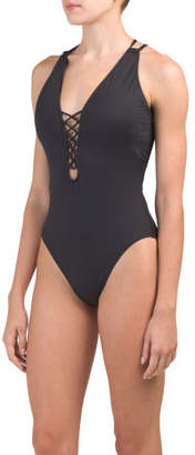 Strappy Back One-piece Swimsuit