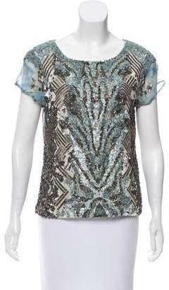 AllSaints Chiffon Embellished Top