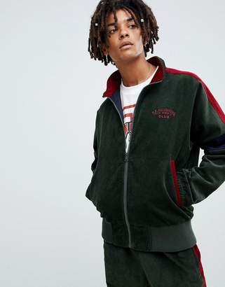 Billionaire Boys Club corduroy track jacket in green