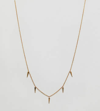 Orelia gold plated mini dagger charm necklace