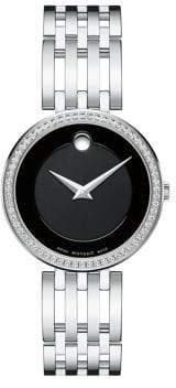Movado Esperanza Diamond& Stainless Steel Bracelet Watch