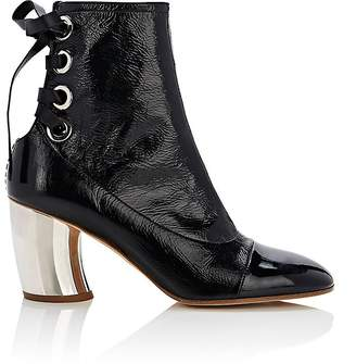 Proenza Schouler Women's Curved-Heel Patent Leather Ankle Boots