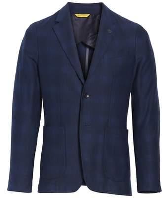 Canali Slim Fit Plaid Cotton Sport Coat