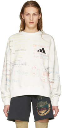 Yeezy White Writing Crewneck Sweatshirt