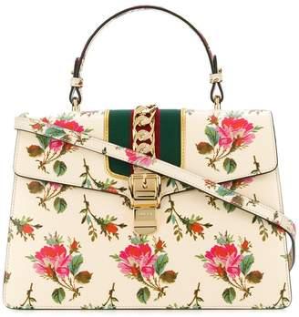 Gucci Sylvie floral print top handle bag