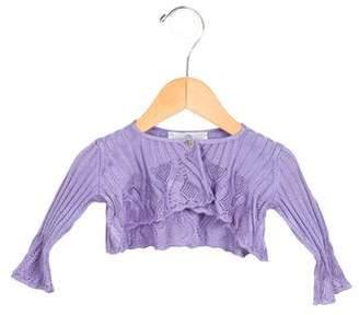 Versace Girls' Knit Crop Cardigan