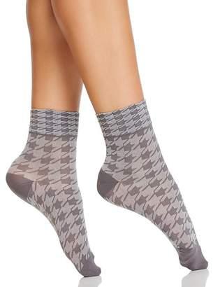 Hue Ultrasmooth Houndstooth Shortie Socks