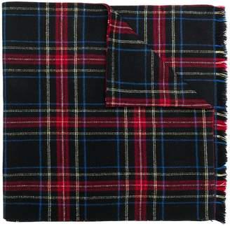 Ermanno Scervino plaid knit scarf