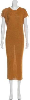 Sonia Rykiel Embellished Cold-Shoulder Dress