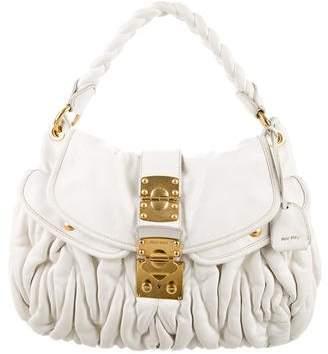 Miu MiuMiu Miu Leather Coffer Bag