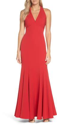 Vince Camuto Halter Trumpet Gown
