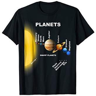 Solar System Shirt Planets Relative To The Sun T-Shirt