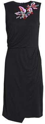 Emilio Pucci Embellished Draped Stretch-Jersey Dress