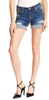 True Religion Curvy Distressed Shorts