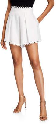 Zimmermann Allia High-Waist Printed Linen Shorts