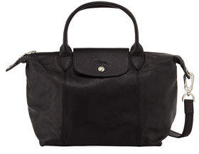 Longchamp Le Pliage Cuir Small Leather Top-Handle Bag with Strap - BLACK PATTERN - STYLE