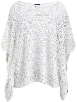 Polo Ralph Lauren Pointelle-Knit Cotton Sweater $198 thestylecure.com