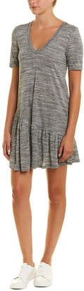 BCBGeneration Ruffle Bottom Shift Dress