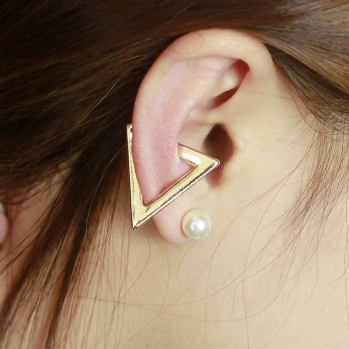 4-teiliges Ohrschmuck-Set mit Kunststoffperlen-Ohrringen