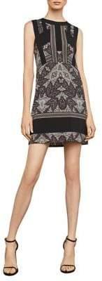 BCBGMAXAZRIA Desert Geo-Print Shift Dress