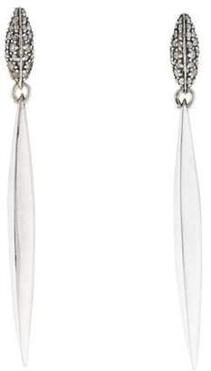 Alexis Bittar Diamond Silver Lake Marquis Earrings