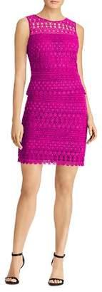 Ralph Lauren Scalloped Lace Sheath Dress