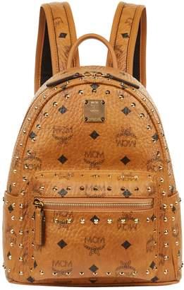MCM Studded Mini Stark Backpack