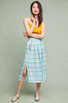 Cardinal Windowpane Wrap Skirt