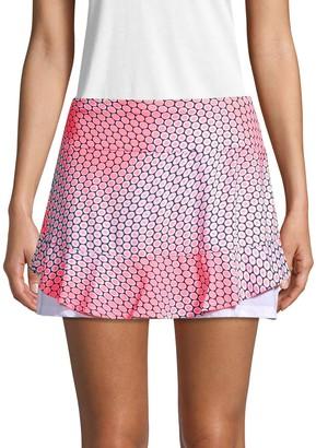 Tail Printed Ruffle Tennis Skirt