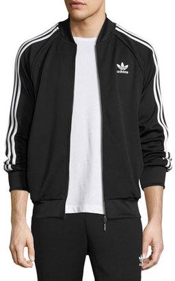 Adidas Striped Raglan Track Jacket, Black $70 thestylecure.com