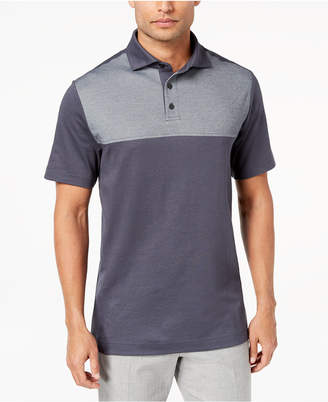 Tasso Elba Men's Supima Blend Colorblocked Polo, Created for Macy's